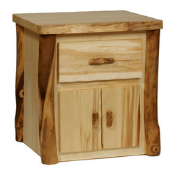 Blue Ridge 1-Drawer / 1-Door Nightstand - Blue Ridge 1-Drawer / 1-Door Nightstand- 75 lbs