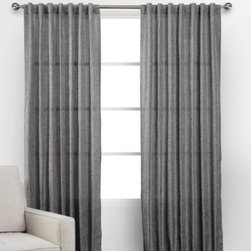 Z Gallerie - Aurora Panels - Dress your windows in layers of sophisticated style with Z Gallerie's Aurora Panels. Created exclusively for Z Gallerie, each lightweight panel offers a soft metallic sheen to grace your window.  Choose to hang them from a rod pocket opening for a gathered look or from back tabs for perfect refinement. Available in Gold and Charcoal, each of our Aurora Panels are sold separately.