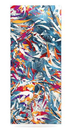 "Kess InHouse - Danny Ivan ""Excited Colours"" Blue Abstract Metal Luxe Panel (9"" x 21"") - Our luxe KESS InHouse art panels are the perfect addition to your super fab living room, dining room, bedroom or bathroom. Heck, we have customers that have them in their sunrooms. These items are the art equivalent to flat screens. They offer a bright splash of color in a sleek and elegant way. They are available in square and rectangle sizes. Comes with a shadow mount for an even sleeker finish. By infusing the dyes of the artwork directly onto specially coated metal panels, the artwork is extremely durable and will showcase the exceptional detail. Use them together to make large art installations or showcase them individually. Our KESS InHouse Art Panels will jump off your walls. We can't wait to see what our interior design savvy clients will come up with next."