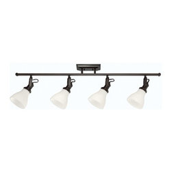 Sea Gull Lighting - Sea Gull Lighting 2520404 4 Light Track Kit with Adjustable Arms - Burnt Sienna - Features: