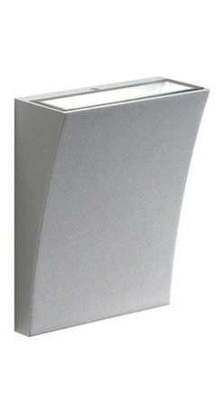 """SLV Lighting - SLV Lighting Delwa Wide Luminaire - The Delwa wide luminaire was designed in Germany. Suitable for residential and commercial applications. Wall mounted or in exterior wall. The body is made of aluminum and glass with a modern shape fixture. Unit includes LED converter.  Product Details: The Delwa wide luminaire was designed in Germany. Suitable for residential and commercial applications. Wall mounted or in exterior wall. The body is made of aluminum and glass with a modern shape fixture. Unit includes LED converter. Details:                                     Dimensions:                                     Height Max: 7"""" (17.78 cm) X Width: 5.5"""" (13.97 cm)                                                     Light bulb:                                     2 X 3.5W Planar LED (incl.)                                                     Material:                                     Aluminum, glass                         ETL - listed certified for use in U.S., Canada and all other countries worldwide."""