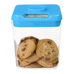 "Kitchen Safe - Kitchen Safe Time-Locking Container, Blue Lid/Clear Base - The best kept secret in weight loss! Beat temptation and build good habits by locking temptations in the Kitchen Safe. USA Today and TIME Magazine call it ""Brilliant!"""