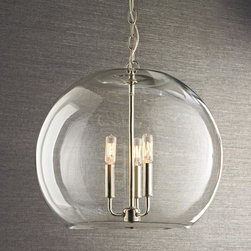 Clear Glass Sphere Chandelier -