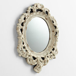 Cyan Design - Ornate Illusions Mirror - Ornate illusions mirror - antique white