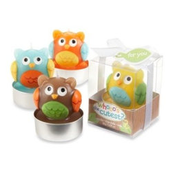 "Kate Aspen - Baby Owl ""Whooo's the Cutest"" Assorted Candles (Set of 4) - It's hard to decide whooo's the cutest of these four owlets--one face is as cute as the next! Perfect for baby showers and other baby-related occasions, these candles come in four different, loveable designs in an array of fun colors that pop."