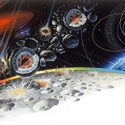 Magic Murals - Meteorites Wallpaper Wall Mural - Self-Adhesive - Multiple Sizes - Magic Murals - Meteorites Wall Mural