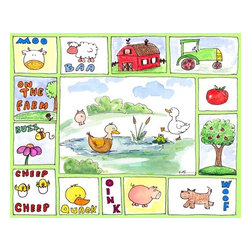Oh How Cute Kids by Serena Bowman - All Around the Barnyard - Ducks, Ready To Hang Canvas Kid's Wall Decor, 8 X 10 - Every kid is unique and special in their own way so why shouldn't their wall decor be so as well! With our extensive selection of canvas wall art for kids, from princesses to spaceships and cowboys to travel girls, we'll help you find that perfect piece for your special one.  Or fill the entire room with our imaginative art, every canvas is part of a coordinating series, an easy way to provide a complete and unified look for any room.