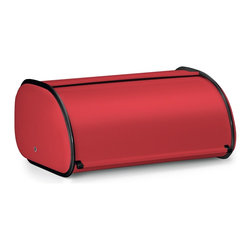 POLDER - Deluxe Bread Bin, Red - This deluxe solid color bread storage container is a stylish way to keep your bread fresh. It keeps bread off of counter space and in one consolidated area providing more room for cooking. Its unique design and color also makes it an eye catcher. This box lets in just enough air so that loaves don't get soggy and crusts stay crisp.