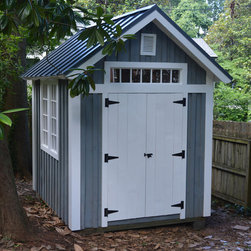 Timberframe Shed - This timberframe shed was built with locally harvested and rough-sawn pine.