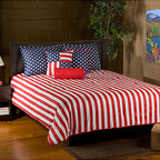 None - Patriot 6-piece King-size Comforter Set - Show off your patriotic flair with this 6-piece comforter set. Constructed of soft cotton,this comforter set features an American flag theme.