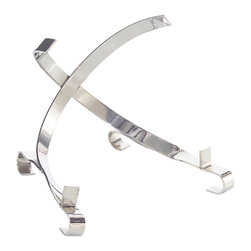 John Richard - John Richard Polished Steel Charger Stand JRA-9341 - Polished steel charger stand or easel will hold and compliment your special treasures.