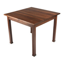 Walnut Wood Works - Black Walnut Kitchen Table - Simple and understated dining table measuring 3x3.