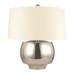 Hudson Valley - Hudson Valley L166-PN 1 Light Large Table Lamp WitHolden Collection - Broadly proportioned, Holden's drum shade complements the lamp's sprawling metal base.  This inviting collection draws lineage from the mid-century design movement that celebrated smooth and clean organic forms.