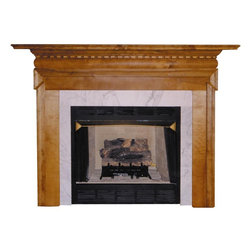 Agee Woodworks - Agee Woodworks Victorian Wood Fireplace Mantel Surround - GEORGIAN4840BIRCH - Shop for Mantels and Trim from Hayneedle.com! About This Fireplace MantelThe Agee Woodworks Victorian Wood Fireplace Mantel Surround is an elegant example of modern design on a traditional home accent. The pillars are deconstructed to simple straight panels and then connect around at the top. Assembly is a snap since most of it is complete out of the box. The final choices are left up to you this mantel ships unfinished ready to paint or stain and install. Choose between birch or oak solids in a wide selection of custom-cut sizes. About Agee Woodworks Inc.Ashland Va.'s Agee Woodworks Inc. focuses on three key manufacturing aspects: service quality and customization. Each handcrafted Agee fireplace mantel is made to order by one specific craftsman - and with a variety of value and custom options there's one for every budget. The highest-quality materials used - and individualized construction process during which a mantel's legs header and shelf are applied to a specified-size frame - ensure long-lasting one-of-a-kind products. Mantels can be primed painted or stained before delivery or can be shipped unfinished so customers can finish them at home.