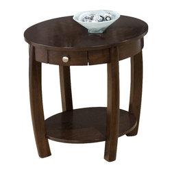 Jofran - Jofran Riverside End Table in Brown Walnut - Jofran - End Tables - 4363