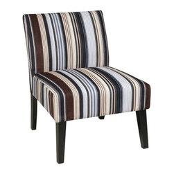 Office Star - Office Star Laguna Chair (Stripe Sky) - Ave Six Laguna Chair (Stripe Sky)