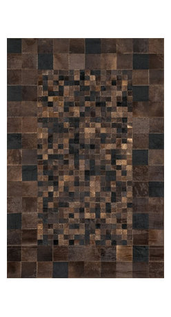 "Loloi Rugs - Loloi Rugs Tahoe/Hemingway Collection - Tobacco, 5' x 7'-6"" - The rugged elegance of the Tahoe Collection is perfectly suited for a variety of settings from a cozy cabin to a chic southwestern loft. Comprised of a variety of unique patterns, the collection is constructed from 100% cowhide and hand stitched in China."