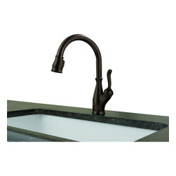 Delta - Leland Single Handle Pull-Down Kitchen Faucet with Diamond Seal Technology - Delta 9178-RB-DST Leland Single Handle Pull-Down Kitchen Faucet with Diamond Seal Technology in Venetian Bronze. The Leland Collection gracefully reinterprets the time-honored teapot design with decorative, traditional detailing. This Collection includes Delta's exclusive DIAMOND?� Seal Technology which uses a valve with a tough diamond coating to bring you a faucet built to last up to five million uses and Delta's-exclusive MagnaTite?�docking system which keeps the spray wand securely in place for picture-perfect grace. Available in multiple finishes the Leland Collection delivers a high level of durability and performance that can be trusted for years to come.Delta 9178-RB-DST Leland Single Handle Pull-Down Kitchen Faucet with Diamond Seal Technology in Venetian Bronze, Features:MagnaTite  docking keeps the kitchen pull-down spray wand firmly in place with a powerful integrated magnet, so it stays docked when not in use.