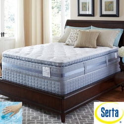 Serta - Serta Perfect Sleeper Elite Pleasant Night Super Pillowtop Full-size Mattress an - Stay comfortably cool all night long with this firm full-size mattress set. The mattress cushions your body with antimicrobial fiber for to keep you feeling great. Its latex foam gives you extra support that helps you get a good night's sleep.