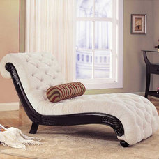 Traditional Indoor Chaise Lounge Chairs by Modern Furniture Warehouse