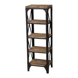 Sterling Industries - Industrial Shelves Shelf in Washed Pine and Restoration Black - Industrial Shelves Shelf in Washed Pine and Restoration Black by Sterling Industries