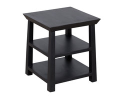 Kishu Side Table - Espresso - Product Features: