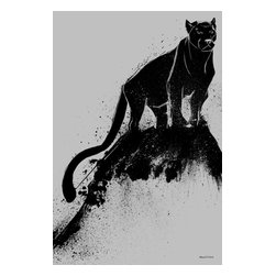 """Maxwell Dickson - Maxwell Dickson """"Black Cat"""" Gallery-Wrapped Canvas Art - We use museum grade archival canvas and ink that is resistant to fading and scratches. All artwork is designed and manufactured at our studio in Downtown, Los Angeles and comes stretched on 1.5 inch stretcher bars. Archival quality canvas print will last over 150 years without fading. Canvas reproduction comes in different sizes. Gallery-wrapped style: the entire print is wrapped around 1.5 inch thick wooden frame. We use the highest quality pine wood available."""