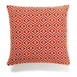 5 Surry Lane - Red Orange Needlepoint Bargello Geometric Contemporary Pillow Cover - A spot of color can do wonders for a room, and this bright pillow is guaranteed to liven up your chair or sofa. For added versatility, the vibrant pattern reverses to solid when your mood changes.