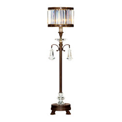Fine Art Lamps - Fine Art Lamps 606215-2ST Eaton Place Silver Leaf Table Lamp - 1 Bulb, Bulb Type: 60 Watt Candelabra; Weight: 23lbs