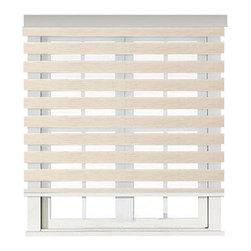 "Blinds-US - Roller Zebra Blind / Light filtering sheer shade, Natural, 36""in W X 72""in L / 9 - Product Description"