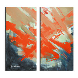Ready2HangArt - Ready2HangArt Alexis Bueno 'Smash XIV' Oversized Canvas Wall Art - This abstract canvas art is the perfect addition to any contemporary space. It is fully finished, arriving ready to hang on the wall of your choice.