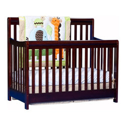 Stork Craft - Stork Craft Cadenza 4-in-1 Fixed Side Convertible Crib  in Cherry - Stork Craft - Cribs - 04567164 - Borrowing from neoclassic design the Stork Craft Cadenza 4 in 1 crib finds its grace with its elegant lines and handsome rounded rails.  Pair it with any of Stork Craft's dresser collections to complete your nursery.