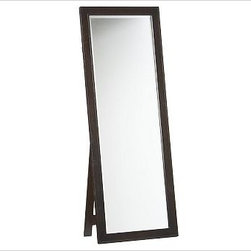 "Classic Floor Mirror, Espresso stain - Designed to coordinate with our Classic Collection, this floor-length mirror is fitted with an easel back.24"" wide x 10"" deep x 65"" highMeticulously crafted with a solid wood frame.Mirror is finished with a beveled edge.See available finishes below.Wood swatches, below, are available for $25 each. We will provide a merchandise refund for wood swatches if they're returned within 30 days. View our {{link path='pages/popups/fb-bath.html' class='popup' width='480' height='300'}}Furniture Brochure{{/link}}."