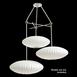 Nelson - Nelson | Triple Bubble Lamp Fixture - Design by George Nelson, 1947.