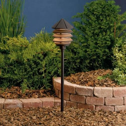 """Kichler - Kichler 15005AZT Six Groove Bronze Path & Spread Light 15005AZT - Textured Architectural Bronze finishBulb Included: Yes Collection: Six Groove Finish: Textured Architectural Bronze Height: 9.5"""" Primary Number of Lights: 1 Primary Wattage: 24.4 Watt Socket 1 Base: Wedge Socket 1 Max Wattage: 24 Style: Transition Switch Type: B Type: Land Path Light Voltage: 12 Volt Width: 6"""""""