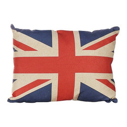 Union Jack Pillow - Show off some patriotic style with this Union Jack cushion from Heaven Sends. The vibrant design brings a fun twist to any home, for a stylish finishing touch with a unique edge.