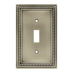 Liberty Hardware - Liberty Hardware 64905 Beaded WP Collection 3.19 Inch Switch Plate - The Beaded design adds elegance and sophistication to every room. The satin nickel finish brings distinguished style and grace to any room. Quality zinc die cast base material. Available in the 10 most popular wall plate configurations. Width - 3.19 Inch, Height - 5 Inch, Projection - 0.3 Inch, Finish - Brushed Satin Pewter, Weight - 0.33 Lbs.
