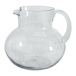 Emma Seeded Glass Pitcher