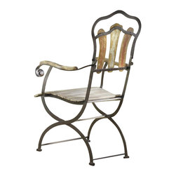 Hooker Furniture - Hooker Furniture Sanctuary Bistro Arm Chair in Yellow-White-Red-Blue - Hooker Furniture - Patio Dining Chairs - 300975300 - Pursue serenity at home�Create your own personal sanctuary, a special place where you can experience�comfort within.