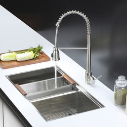 Ruvati - Ruvati RVC2388 Stainless Steel Kitchen Sink and Stainless Steel Faucet Set - Ruvati sink and faucet combos are designed with you in mind. We have packaged one of our premium 16 gauge stainless steel sinks with one of our luxury faucets to give you the perfect combination of form and function.