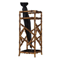 """Dessau Home - Bamboo Umbrella Stand in Antique Gold - Square shape. Made from iron. 8 in. L x 8 in. W x 21 in. HValue has always been an essential ingredient at Dessau Home. """"Essentials"""" represents a collection of well-appointed yet affordable home furnishings with a unique traditional styling that appeals to most transitional and contemporary home decorating needs."""