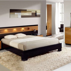 Made in Spain Wood Modern Design Bed Set with Extra Storage