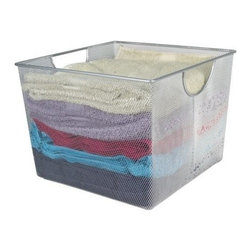 Design Ideas - Design Ideas Mesh Storage Bins, Large - Our Large sized Mesh Storage Bins by Design Ideas, are made from stainless steel wire, so they are sure not to rust and will become a staple item in your home. These are great for garages, kitchens, or any other room in need of organizing.