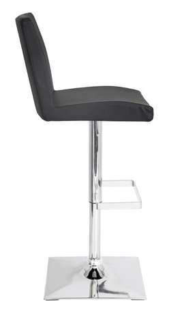 "Lumisource - Captain Bar Stool, Black - 19.5"" L x 16.25"" W x 37 - 45"" H"