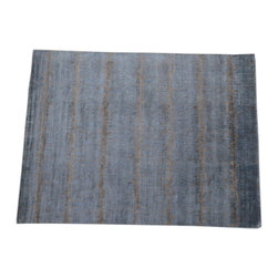 1800GetARug - Oriental Rug Hand Knotted Rug Abstract Design Bamboo Silk Sh14132 - About Modern & Contemporary