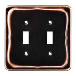 Liberty Hardware - Liberty Hardware 144405 Tenley WP Collection 5.12 Inch Switch Plate - A simple change can make a huge impact on the look and feel of any room. Change out your old wall plates and give any room a brand new feel. Experience the look of a quality Liberty Hardware wall plate. Width - 5.12 Inch, Height - 5.04 Inch, Projection - 0.28 Inch, Finish - Bronze W/Copper Highlights, Weight - 0.3 Lbs.