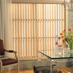 Levolor Vertical Blinds - Levolor Fabric Verticals. Patterns,Blues,Greens,Yellow - Levolor Fabric Verticals - Buy with Confidence, Get Free Samples Today!Levolor Vertical Blinds are ideal for patio doors and large windows. many fabrics are backed with a soft laminate and are neutral to the streetside. An anodized aluminum LXT2000 headrail with self-lubricating trucks and Delrin vane stems make this headrail long-lasting and durable.  Fabric vanes come standard with sewn-in weights. Optional bottom chains reduce vane sway. (Must be requested at time of order.) Chains are attached to bottom weight.