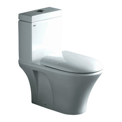 "Ariel - Ariel ""Milano"" Contemporary One Piece White Toilet with Dual Flush 26.5x16x30 - Ariel cutting-edge designed one-piece toilets with powerful flushing system. It's a beautiful, modern toilet for your contemporary bathroom remodel."