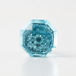 """Anthropologie - Crystal Octagon Knob - Tighten with careNo additional hardware requiredGlass, brass1.5"""" diameter1.5"""" projection1.75"""" bolt can be trimmed to sizeImported"""
