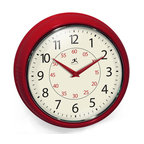 Infinity Instruments, Ltd. - Infinity Instruments Retro Iron Wall Clock, Retro Redux - Infinity Instruments Retro Wall Clock collection has been a staple in the interior design/wall décor accessories for well over a decade.  It has proven the test of time with a clean retro look that fits most, if not all, home décor layouts. There have been many copy cats but there is only one true  Retro Iron Wall Clock.